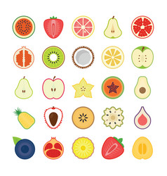 Fruits icons pack vector