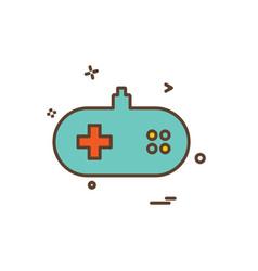 game remote icon design vector image