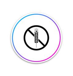 gluten free grain icon on white background vector image