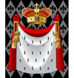 Gold crown with a mantle vector