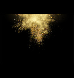Gold glitter dust texture design element golden vector