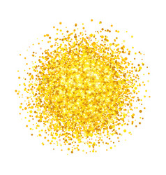 Golden glitter round shape vector