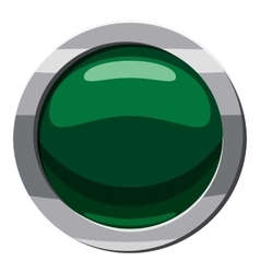 Green button icon cartoon style vector image