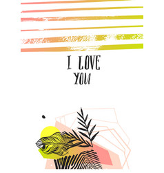 Hand made abstract graphic valentines day vector