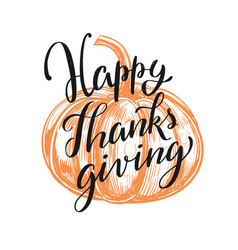 Happy thanksgiving day lettering concept vector