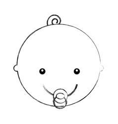 head cute baby icon vector image