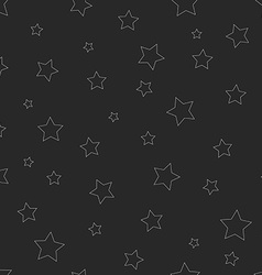 hipster seamless pattern thin line star graphic vector image