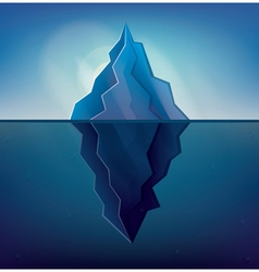 Iceberg on blue background vector