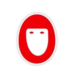 Icon sticker realistic design on paper hijab vector