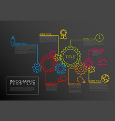 Infographic report template with gear wheels vector