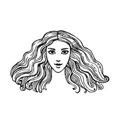 ink sketch of woman vector image