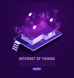 Internet things isometric poster vector
