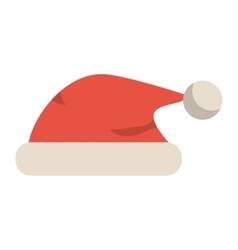 Isolated santas hat of Christmas season design vector