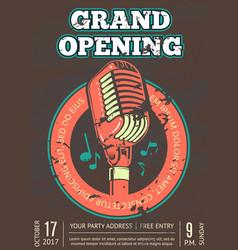karaoke club bar audio record studio poster vector image