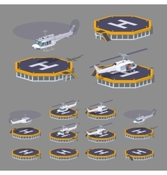 Low poly heli pad vector image