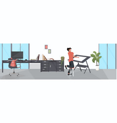 male designer using adjustable board man planning vector image