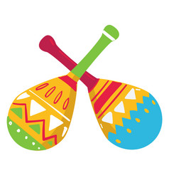 maracas traditional musical instrument mexico vector image