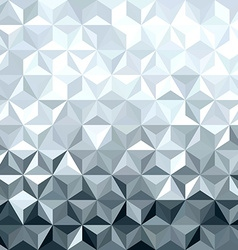 Metal silver 3d geometry low poly seamless pattern vector