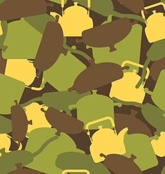 Military texture of kitchen utensils Camouflage vector