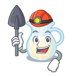 Miner milk jug completely filled with character vector