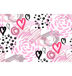 modern seamless pattern with hearts for design vector image