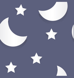 moon and stars paper seamless pattern vector image