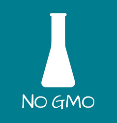 no gmo label food intolerance symbols vector image