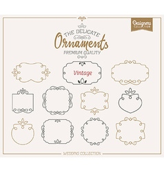 Ornamental Frame Template Set vector image