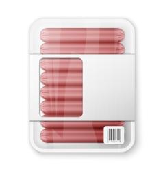 Pork sausages vector
