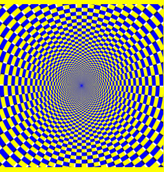 psychedelic optical spiral with radial rays vector image
