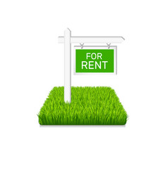 Real estate icon sign on green grass vector
