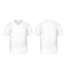 realistic t-shirt white blank mock up vector image