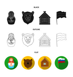 Russia country nation matryoshka russia vector