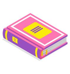 School supplies book sign literature vector