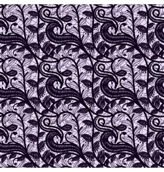 Seamless lace fabric dark color Openwork pattern vector image