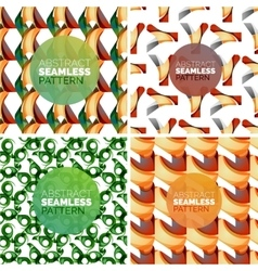 set of colorful seamless geometric patterns vector image