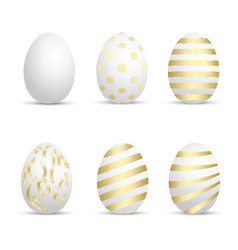 set of easter eggs for your design vector image