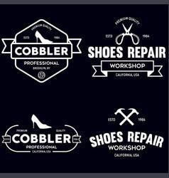 set of vintage logos labels badges vector image
