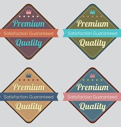 Set of Vintage Retro Labels vector image