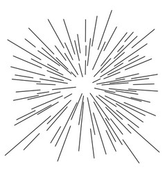 speed lines from center sketch vector image