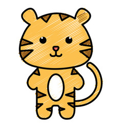 stuffed animal tiger vector image
