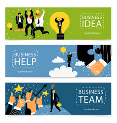 success business banner set vector image