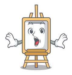 surprised easel mascot cartoon style vector image
