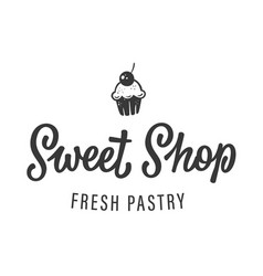 sweet shop logo vector image