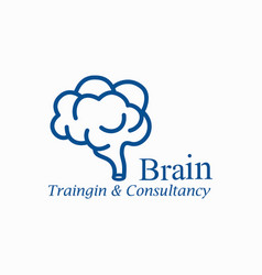 Tech brain logo design template vector
