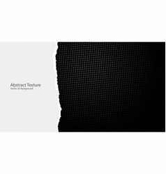 torn paper edges on dark black geometric grid vector image