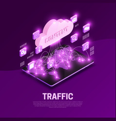 Traffic isometric composition vector