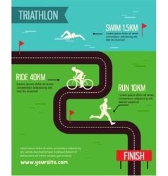 Triathlon Triathlon poster vector