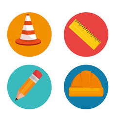 under construction icon set vector image