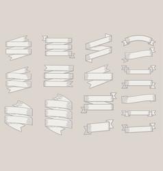 variety white ribbon set vector image